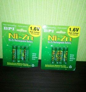 Ni- Zn аккумулятор1,6 V 1000mWh AAA мезинчиковый