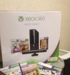 Приставка XBOX 360 + Kinect