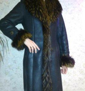 Дубленка женская натуральная 48 размер