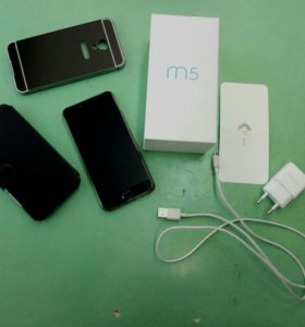Meizu m5, сканер пальца, не битый, +3 чехла