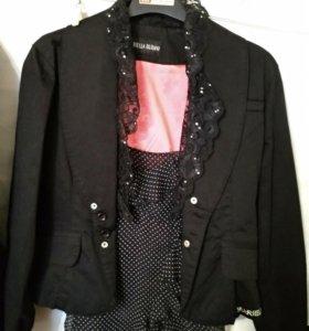 Пиджак черный Мариэлла Бу