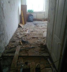 Демонтаж деревянных полов,под ключ,вывоз,вынос