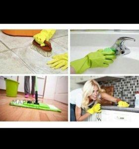 Уборка после ремонта,генеральная,мытье окон