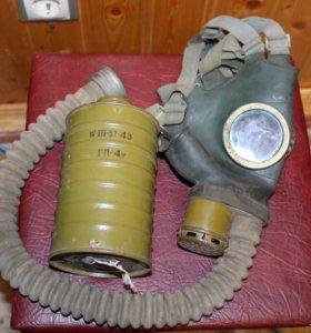 Противогаз гражданский ГП-4у 1957года.