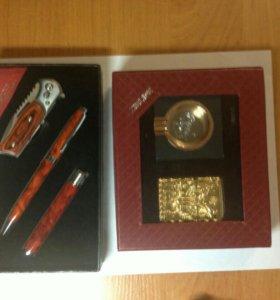 Два подарочных набора.зажигалка и пепельница. Зажи
