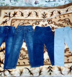 Продам джинсы на мальчика р.110-122