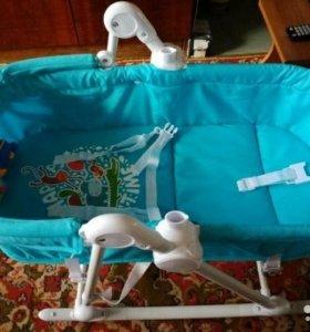 Шезлонг-баунсер детский Babyton (голубой)