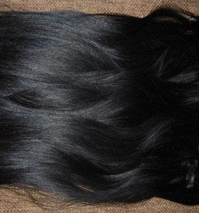 продам термо волосы на заколках 60 см