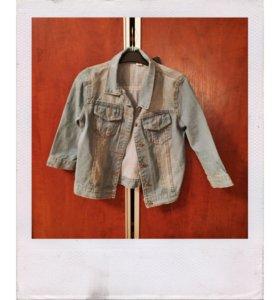 Укорочённая джинсовая куртка хs-s