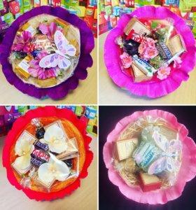 Букеты из чая/кофе со сладостями