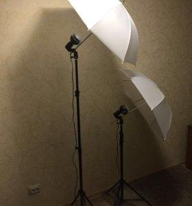 Комплект студийного светового оборудования