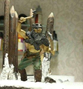 Оловянный солдатик диорама викинг