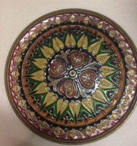 Тарелка бронзовая, антиквариат, винтаж