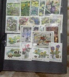 Коллекция совет-х марок .В кол-ве 320 шт.