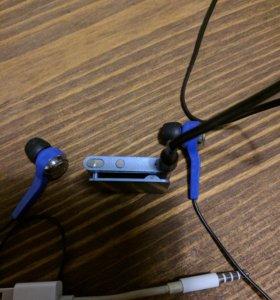 iPod shuffle 2gb + philips she8500bl