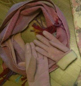 перчатки шарф комплект