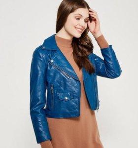 новая куртка кожанка косуха синяя женская