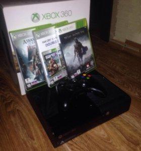 Игровая консоль xbox360 и четыре лицензионных диск