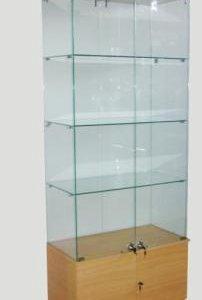 Стеклянный шкаф-витрина с подсветкой