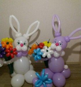 Корзины и букеты из воздушных шаров