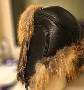Шапка мужская зимняя мех кожа