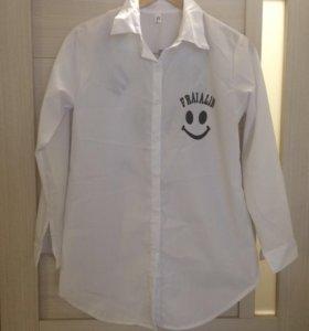 Новая рубашка белая xs-s