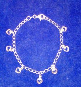 Браслет серебро 925пр+ подарочная коробочка