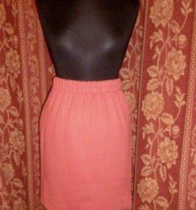 Юбка розовая стильная