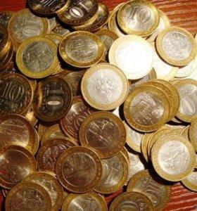 Юбилейные монеты различных наименований