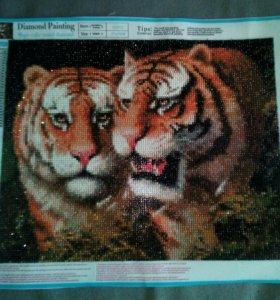 Алмазная картина тигры