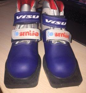Детские лыжные ботинки 33р