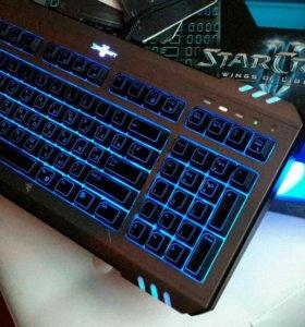 Клавиатура Razer StarCraft 2 с подцветкой синей