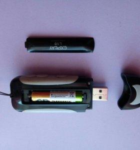 Флешка-плеер на батарейках.