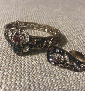 Украшения: браслет и кольцо