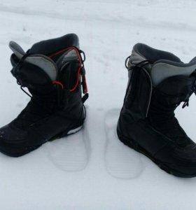 Сноуборд ботинки и крепления в чехле