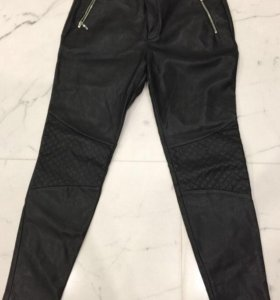Кожаный брюки ZARA