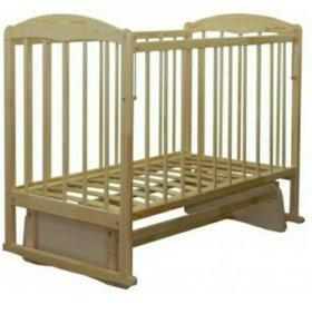 Кровать детская с маятником и ортопедич. матрасом