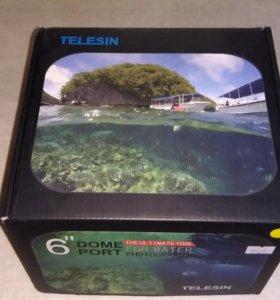 Telesin dome port для Gopro Hero 3+, Hero 4