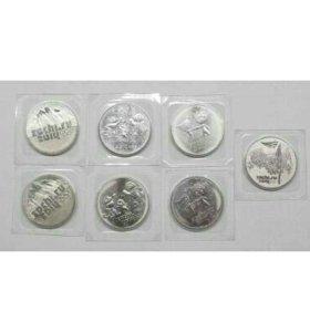 Набор монет 25 рублей Сочи 7 монет