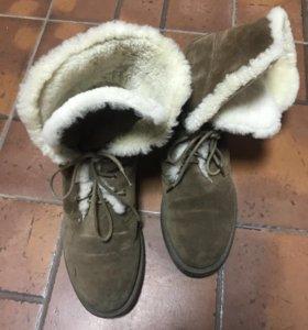 Ботинки calipso натуральная замша 40р
