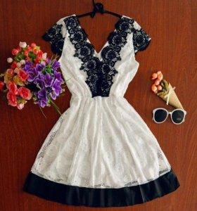 Летнее платье кружевное