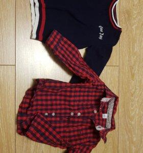 Джемпер и рубашка