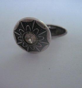 запонка ссср серебро