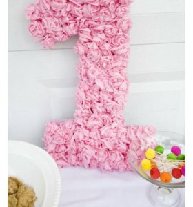 Цветочная цифра на День Рождения
