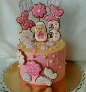 Торты,свадебные торты,капкейки на заказ