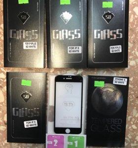 Защитное стекло 5D на айфон 5,6,6+,7,7+,8,8+,х