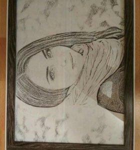 Рисунок- Портрет в рамке