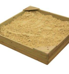 Песочница с сидениями-столиками (не окрашенная)