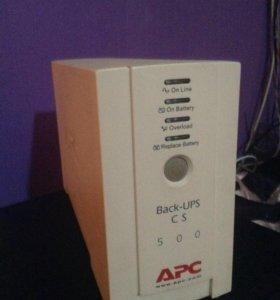 ИБП APC Back UPS CS 500 без батареи
