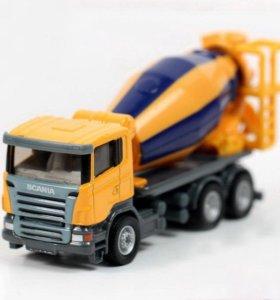 """машинка """"Бетономешалка Scania"""", Siku 1:87 металл"""